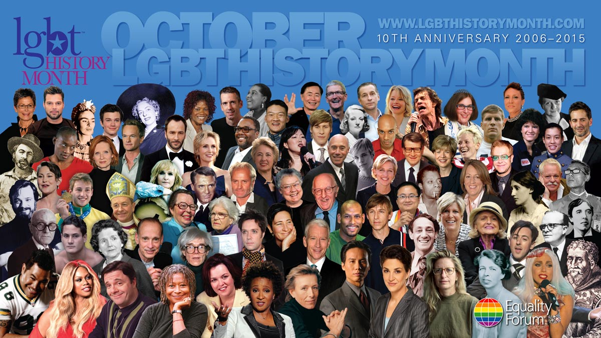 17x11 10th Anniversary LGBT History Month promotional poster