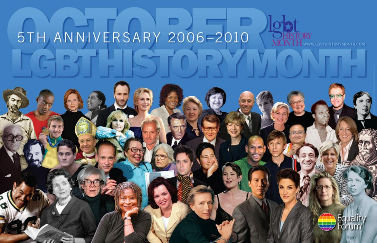 LGBT History Month 5th Anniversary Icon Poster